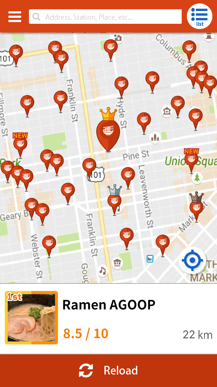 Ramen Finder | Could find the nearby por restaurants on the map! on food delivery nearby, attractions nearby, parks nearby, japanese gardens nearby, cafes nearby,